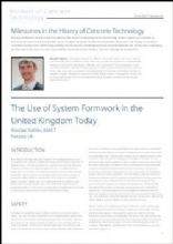 The Use of System Formwork in the United Kingdom Today